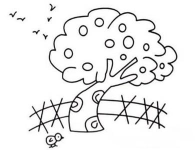 秋天大树怎么画简笔画图片大全