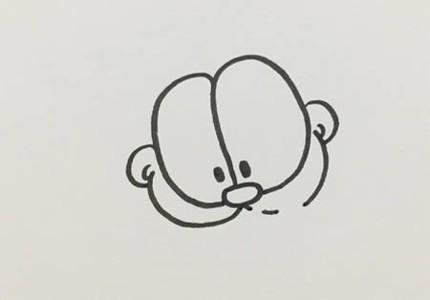 加菲猫简笔画步骤图