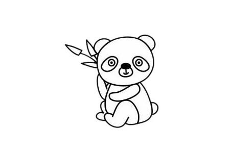 怎么画熊猫简单画法 熊猫简笔画步骤图片大全