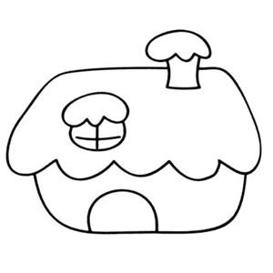 雪屋简笔画