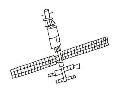卫星简笔画 - 人造卫星简笔画儿童画图片大全