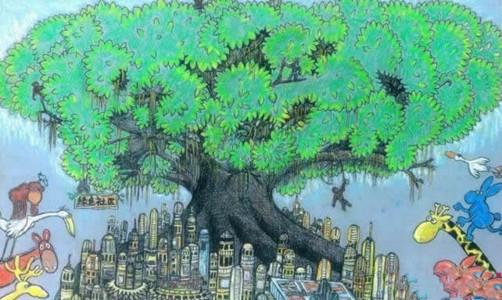 我心目中的绿色家园儿童画