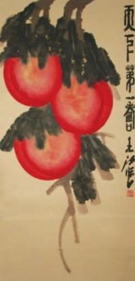 工笔画-红桃