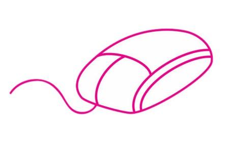 鼠标简笔画的画法步骤教程及图片大全