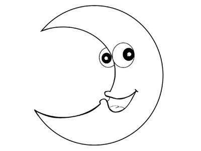 卡通月亮的简单画法