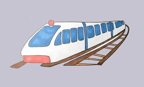 高铁怎么画简笔画简单好看