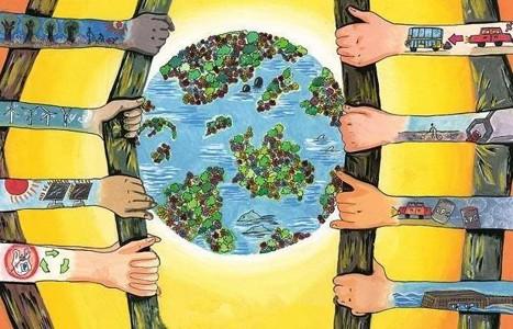 保护地球家园创意儿童画图片