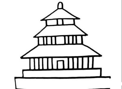 北京天坛简笔画图片