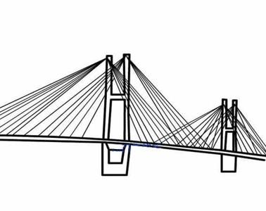 【斜拉桥简笔画】幼儿斜拉桥简笔画图片大全