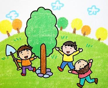 三个栽树的小朋友