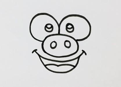 小猪怎么画简单又可爱步骤图-猪的简笔画