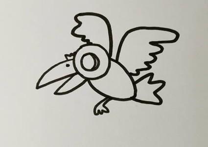 狐狸和乌鸦的简笔画怎么画