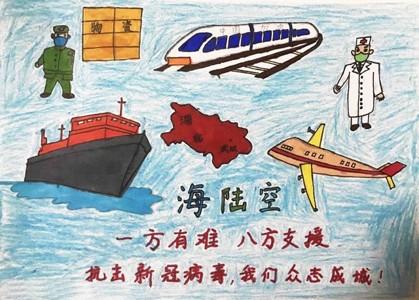 武汉加油儿童画图片简单又漂亮