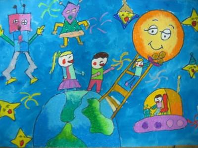 蜡笔画-星际之旅
