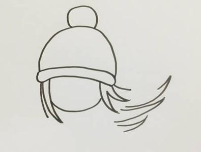 滑冰的小女孩简笔画简单又漂亮 小女孩滑冰简笔画涂色画法