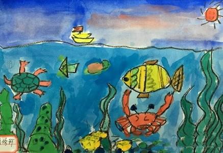 三年级唯美的海底世界儿童画
