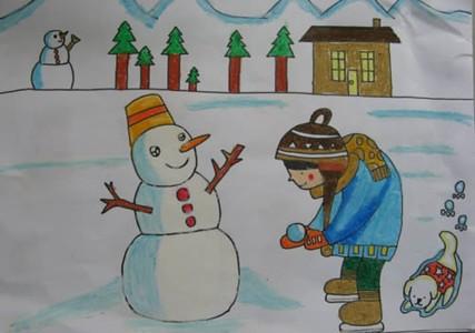 我堆的大雪人