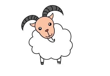 山羊简笔画彩色 山羊简笔画步骤图片大全