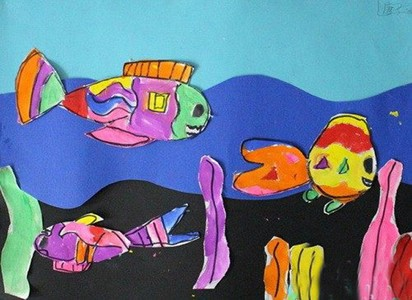 海底景象儿童画