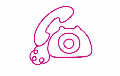 电话简笔画的画法步骤教程及图片大全
