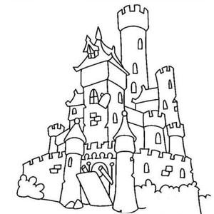 建筑图片 古堡简笔画图片