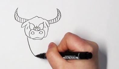 牛的简笔画步骤图解带颜色