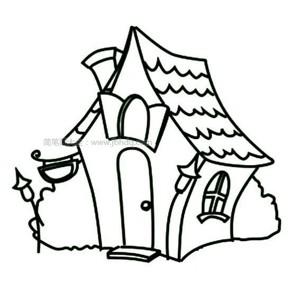 小房子儿童简笔画