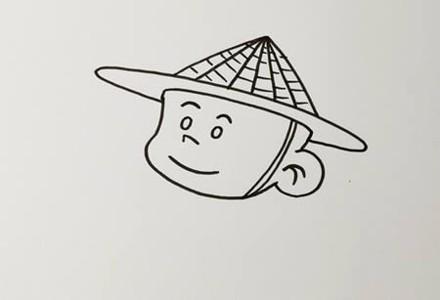 渔夫的简笔画画法步骤图片