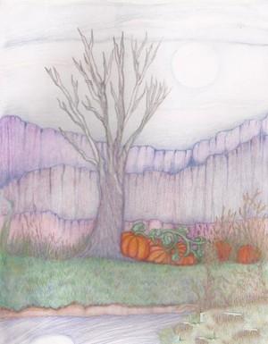 不一样的秋天景色图儿童画
