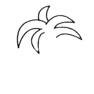 【椰子树简笔画】椰子树简笔画图片大全及画法步骤图解