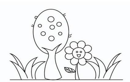 花草和树木简笔画图片大全