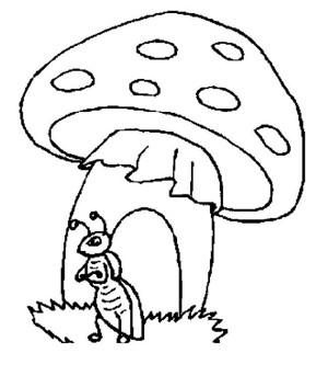 卡通建筑简笔画大全 蘑菇房子简笔画