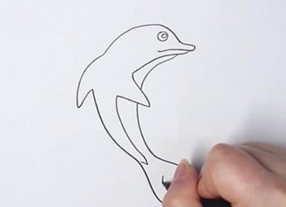 海豚怎么画简单又可爱 海豚简笔画图片