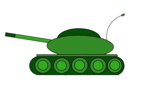 坦克画法 卡通坦克简笔画步骤图解教程