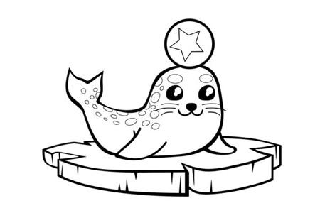 海豹简笔画