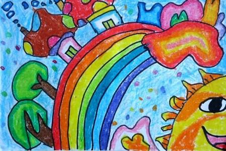 蜡笔画-彩虹天堂