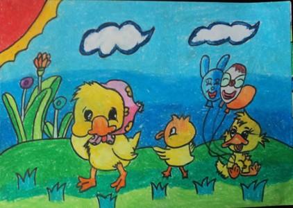 小学生《找春天》儿童画