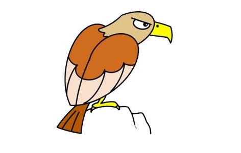 老鹰怎么画简笔画霸气又简单 老鹰简笔画步骤图片