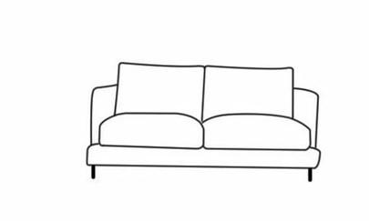 沙发简笔画图片大全