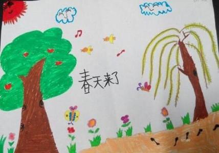 春天来了儿童画图片