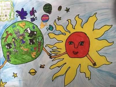 世界地球日奇思妙想儿童画简单又漂亮