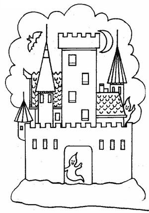 建筑图片 童话城堡简笔画图片