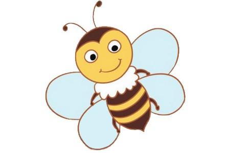 卡通蜜蜂简笔画画法步骤图片