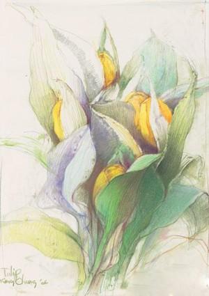 工笔画-赏心悦目的花儿