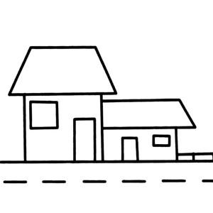 幼儿建筑简笔画大全 路边的小房子