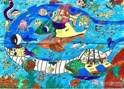 奇妙的海底世界儿童画