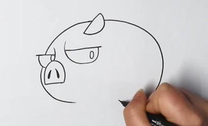 一步一步教画小猪