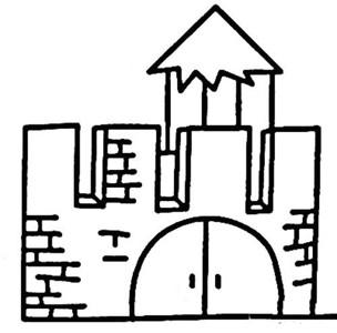 建筑图片 日本城堡简笔画图片