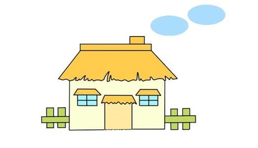 卡通房子简笔画步骤图片