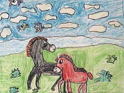 数字油画-小马
